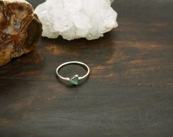 MAKA Aqua Chalcedon Sterling Silver 925 Ring