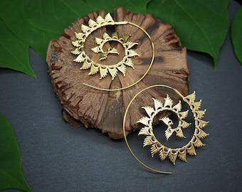 YENGNE Tribal Brass Earrings