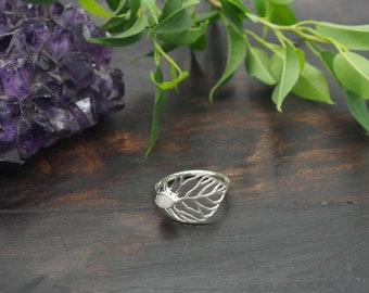ABEY Moonstone Sterling Silver 925 Ring