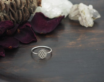 FLOWER OF LIFE Sterling Silver 925 Ring