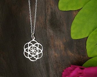 SEED OF LIFE Medium Sterling Silver 925 Pendant