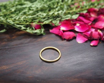 SIMPLE Sterling Silver 925 18ct Gold Plated Ring
