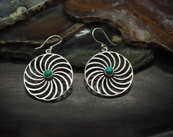 KOLENYA Turquoise Silver Plated Earrings
