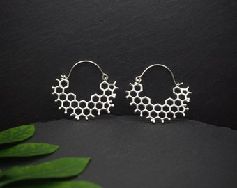 HONEYCOMB Silver Plated Earrings