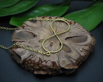 INFINITY Brass Necklace
