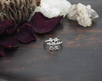 SNOWFLAKE Sterling Silver 925 Ring