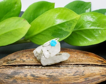 HEXAGON Turquoise Sterling Silver 925 Ring