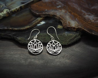 LOTUS Silver Plated Earrings