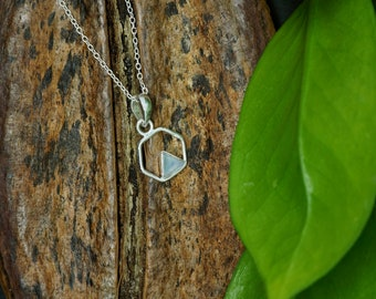 TRIANGLE Moonstone Sterling Silver 925 Pendant