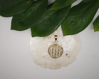 FLOWER OF LIFE Brass Pendant