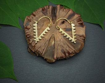 ZUNI Tribal Brass Earrings