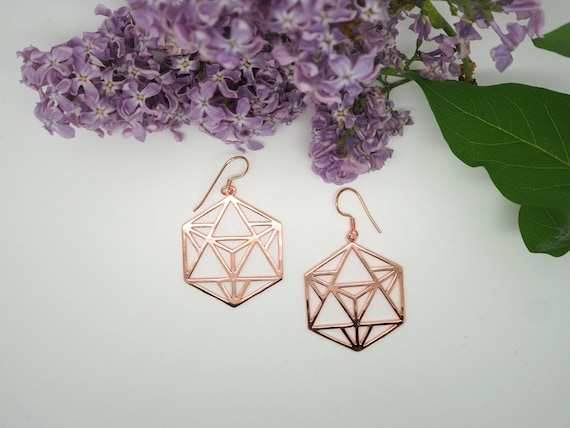 Geometric Copper Earrings