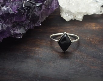 MAHU Onyx Sterling Silver 925 Ring