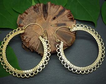 ZALTANA Tribal Brass Earrings