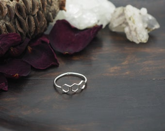 HONEYCOMB Sterling Silver 925 Ring