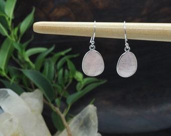 AMITOLA Rose Quartz Sterling Silver 925 Earrings
