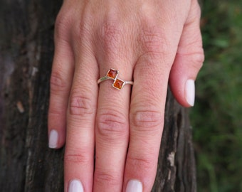 NANOOK Amber Sterling Silver 925 Ring