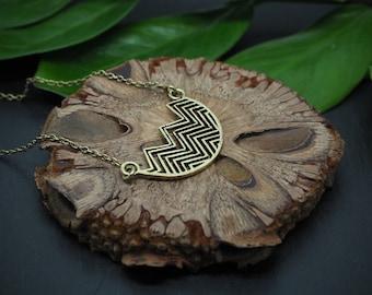 WAVE Brass Necklace