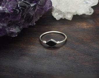 MINAL Black Onyx Sterling Silver 925 Ring