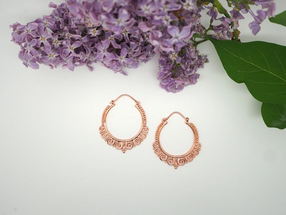 Tribal Copper Earrings