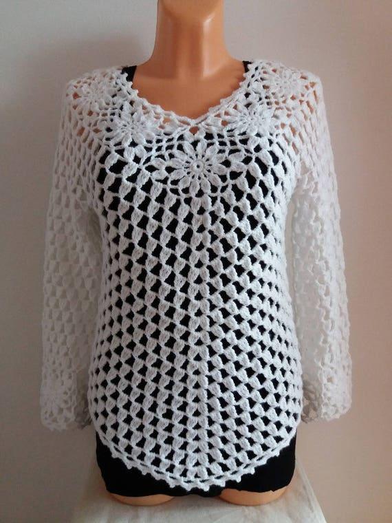Crochet Top Patternflower Top Crochet Patterncrochet Vest Etsy