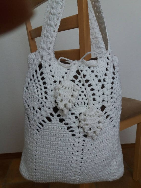Crochet Bag Pattern By Emmhouse Pineapple Bag Crochet Pattern