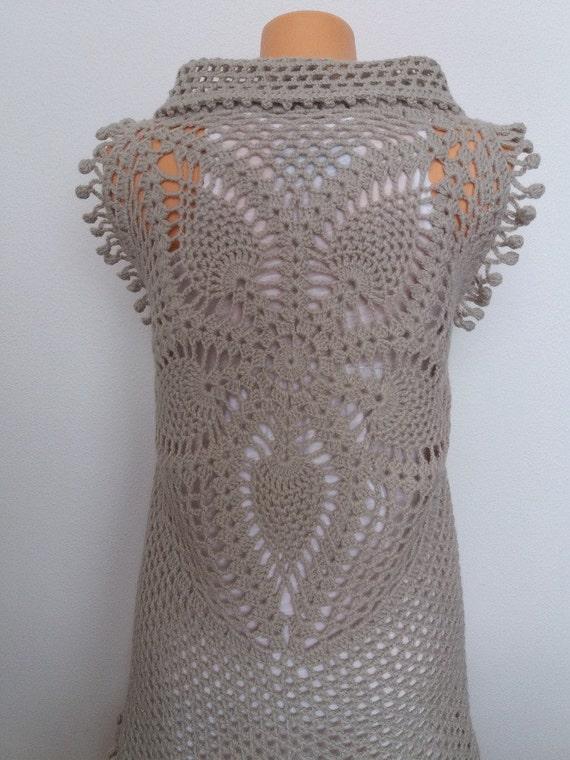 Crochet Vest Pattern Pineapple Top Crochet Pattern Crochet Etsy