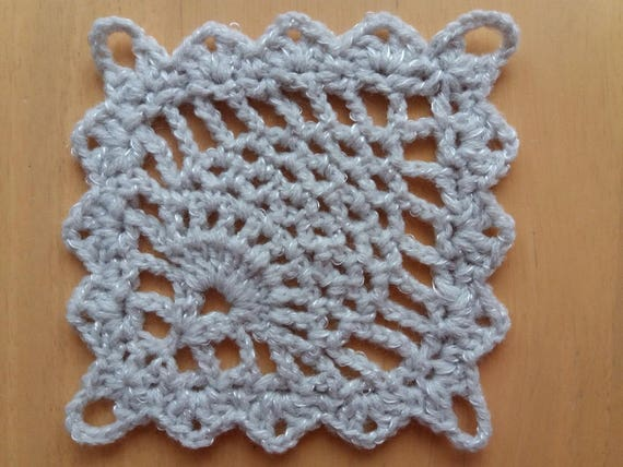 Pineapple Square Motivepdf Download Crochet Square Etsy