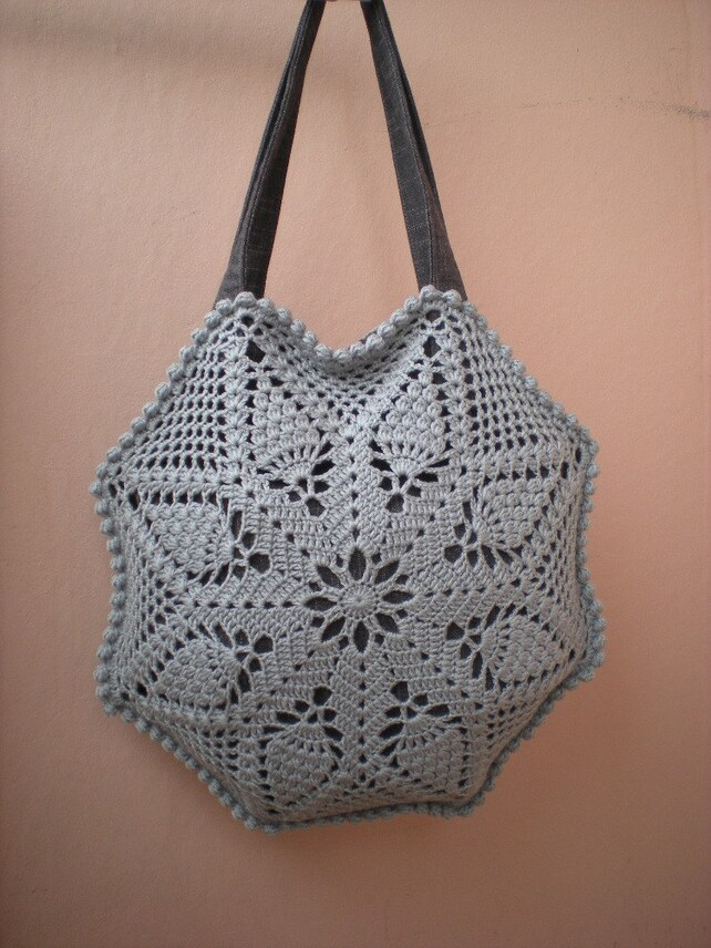 Crochet Bag Patterns Pineapple Bag Crochet Pattern Diy Etsy