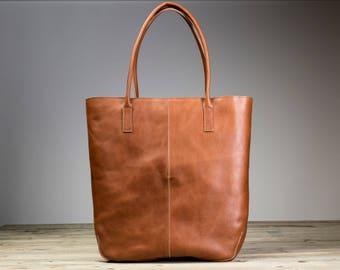 Leather Shoulder Bag with zipper, Women Shoulder bag, Shoulder Strap