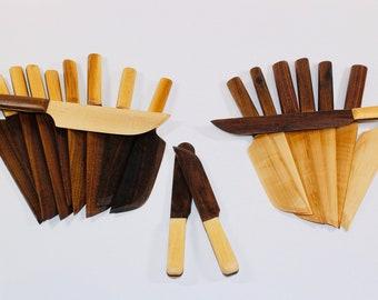 Wooden knife, cake knife, pie knife, cheese knife, weeding knife