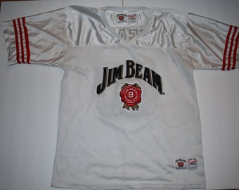 eadba6cd0 Vintage Jim Bean White and Red Jim Beam Football Jersey