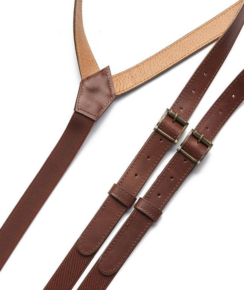 casual suspenders, wedding suspenders,retro leather,mens gift leather braces Mens Leather suspenders,adjustable suspenders