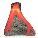 Volcano Cushion, Volcano, Volcanoface, Geology Lovers, Earth Decor, Volcano Pillow, Kids Decor, Lava You, Hawaii Volcanoes