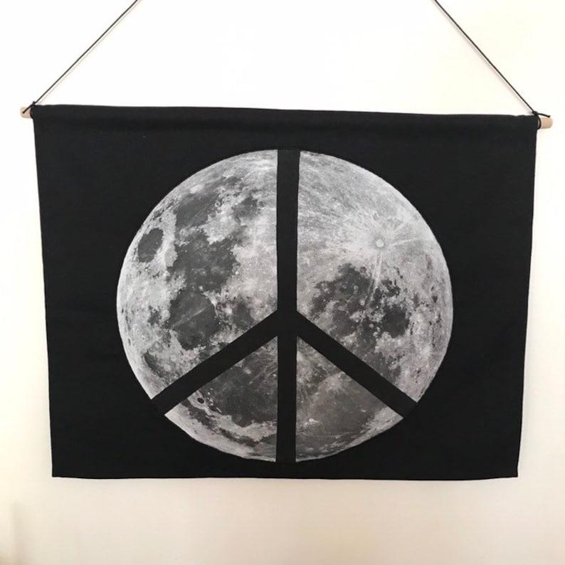 Peace Moon Wall Hanging Full Moon image 0