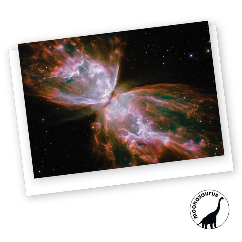Butterfly Nebula Greeting Card Blank Card image 0