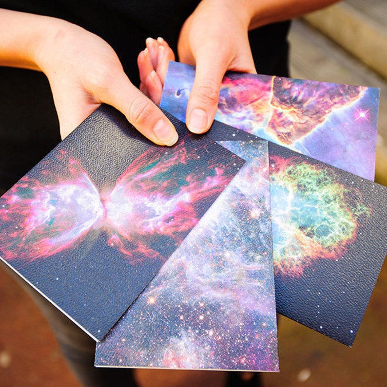 Nebula Greeting Cards 4 Pack Blank Cards Space Cards image 0