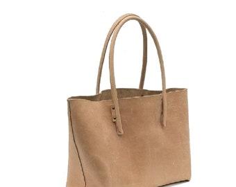 Big leather bag natural leather shopping bag shopper Ledershopper Leather Shopper bag bag used look vintage-design handmade