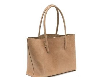 Large leather bag natural leather bag shopper Ledershopper leather Shopper bag bag used look handmade.