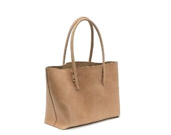 Big leather bag Shopping bag shopper Ledershopper Leather shopper bag used look vintage-design handmade