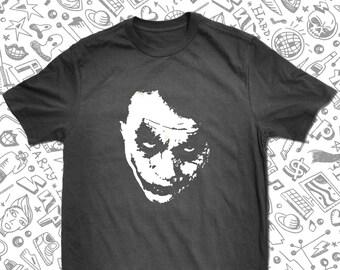 f8033a96 Joker Why So Serious T-Shirt Heath Ledger Tribute Tee Joker T-Shirt  Homemade Silkscreen T-Shirt Graphic Tee Men Women S-3XL T-Shirt