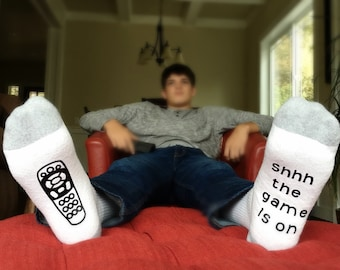 Game Day Socks - Funny Socks for Men - Gift for Him - Gift for Dad - Mens Sock - Wine Socks - Costume Socks - Novelty Gift - Fathers Day