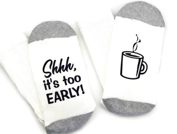 White Coffee Lovers Socks Gift for Men