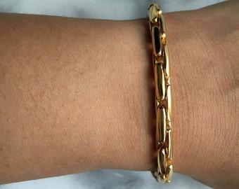 SUPRA CURVE LINK Gold Chain Bracelet