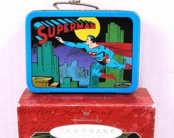 Superman Commemorative Edition Keepsake Ornament - 1998 by Hallmark  - Superman Lunchbox Ornament