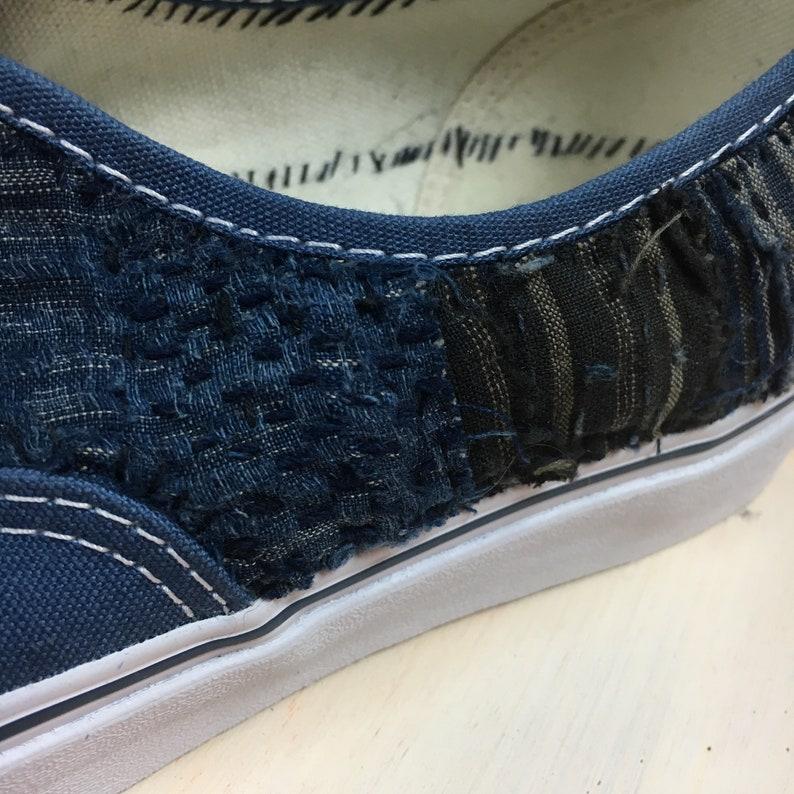 43fb4a4ba9fc1 Vans selfmade boro Japanese patchwork hand stitch indigo
