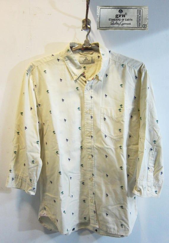 GRN color jacquard shirt Japan