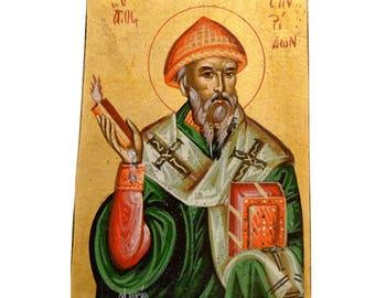 Saint Spyridon Orthodox Icon Byzantine Icon Religious Icon Christian Icon 24,0x16,5cm