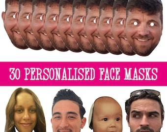25 foto personalizzata Maschera Kit per stag /& Hen Night Festa di Compleanno