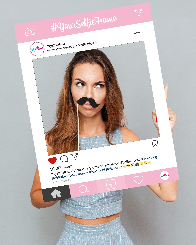 VOLLFLÄCHIG bedruckt Baby Rosa Instagram Stil personalisierte | Etsy